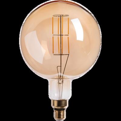 Ampoule LED géante ambre D20cm culot E27-GLOBE