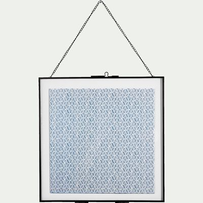 Cadre photo entre deux verres en métal - noir 30,5x30,5cm-TEDDY