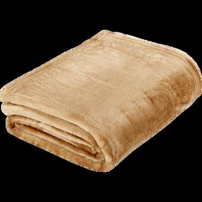 Plaid doux beige nèfle (plusieurs tailles)-ROBIN