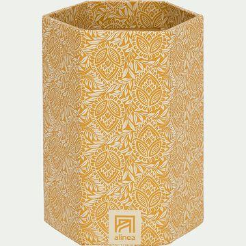 pot à crayon en carton motif amande-AMANDE