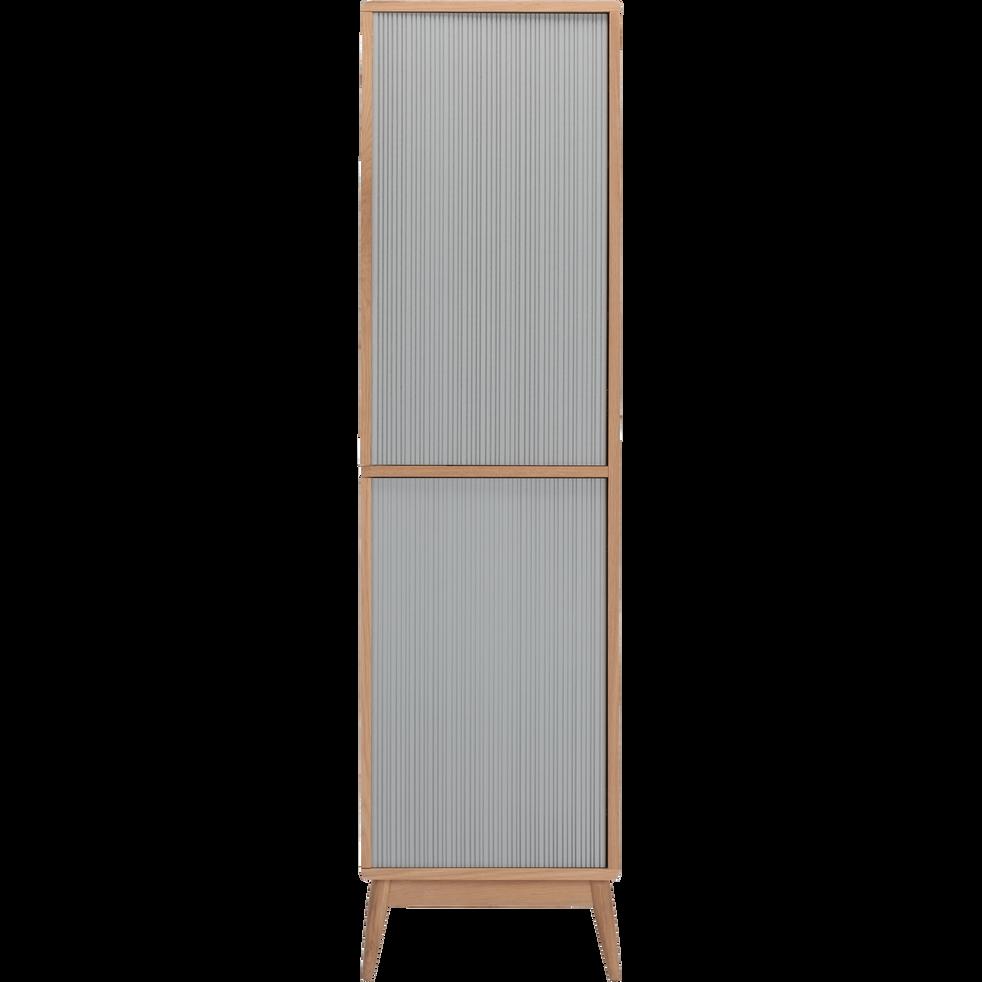Colonne de salle de bains en chêne H190cm-HORTENSE