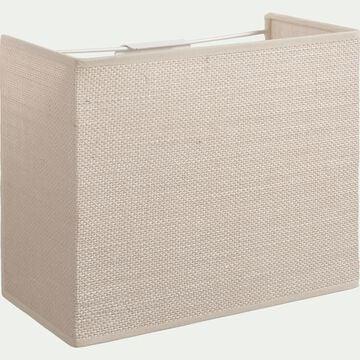 Applique non électrifiée en jute blanc 20x24x12cm-ANDEL