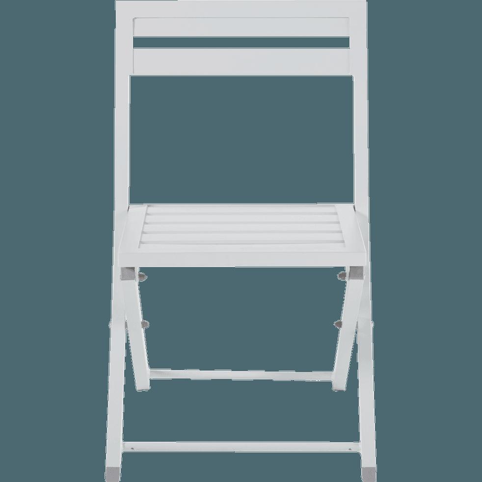 chaise de jardin pliante blanche en aluminium blanco. Black Bedroom Furniture Sets. Home Design Ideas