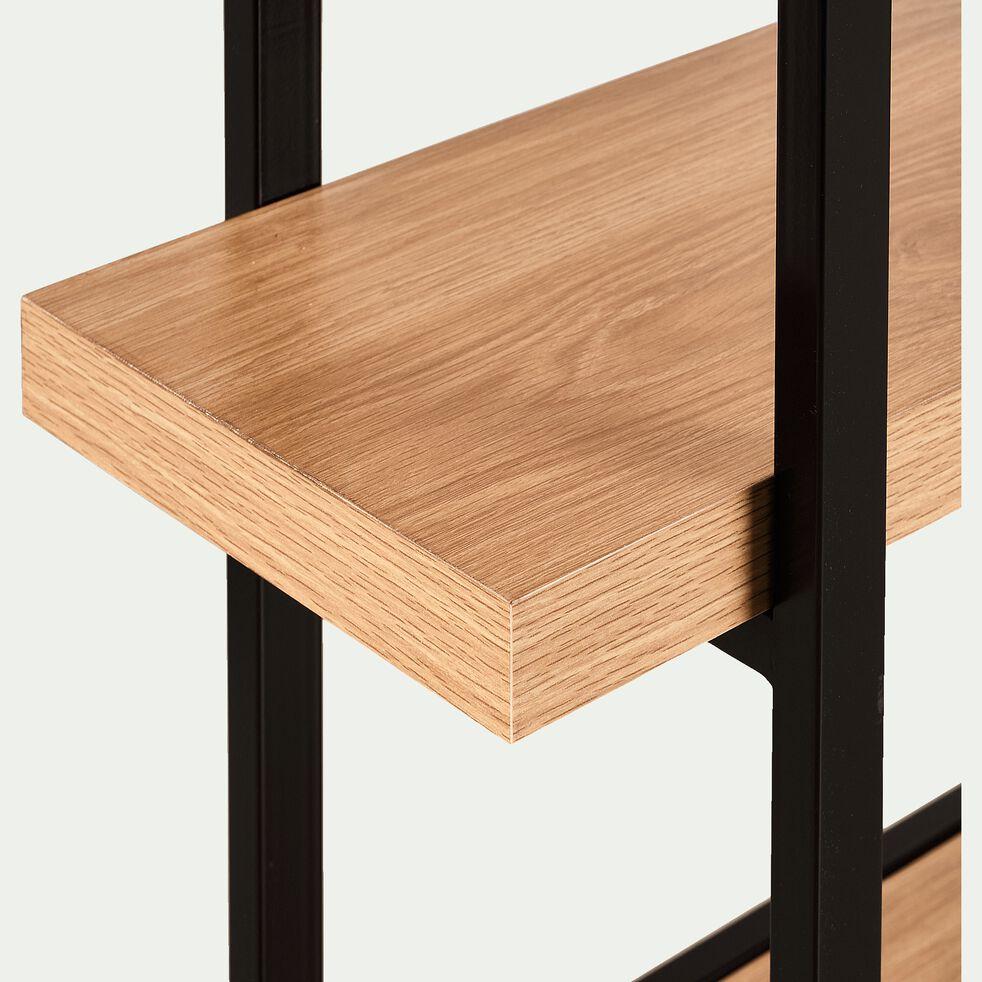 Etagère effet bois et métal H146cm-AUPS