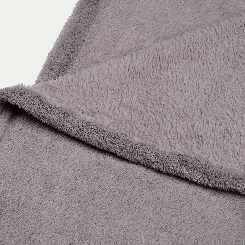 Plaid effet polaire en polyester - gris restanque 180x220cm-ROBIN