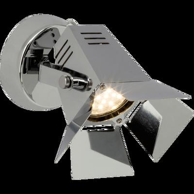 Spot en métal chromé H15,5cm à 1 lumière-MOVIE
