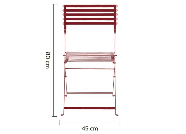 Chaise de jardin pliante rouge sumac-CERVIONE