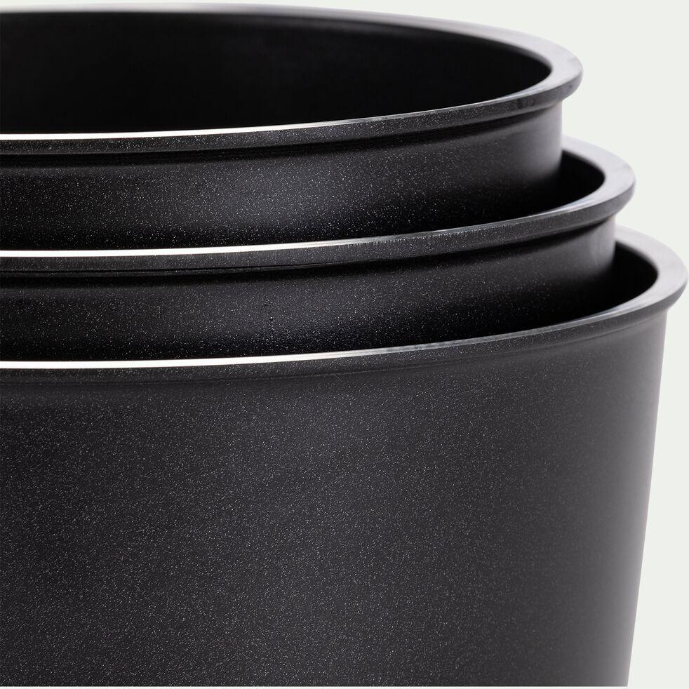 Lot de 3 casseroles en aluminium avec manche amovible (tous feux dont induction)-XYLO
