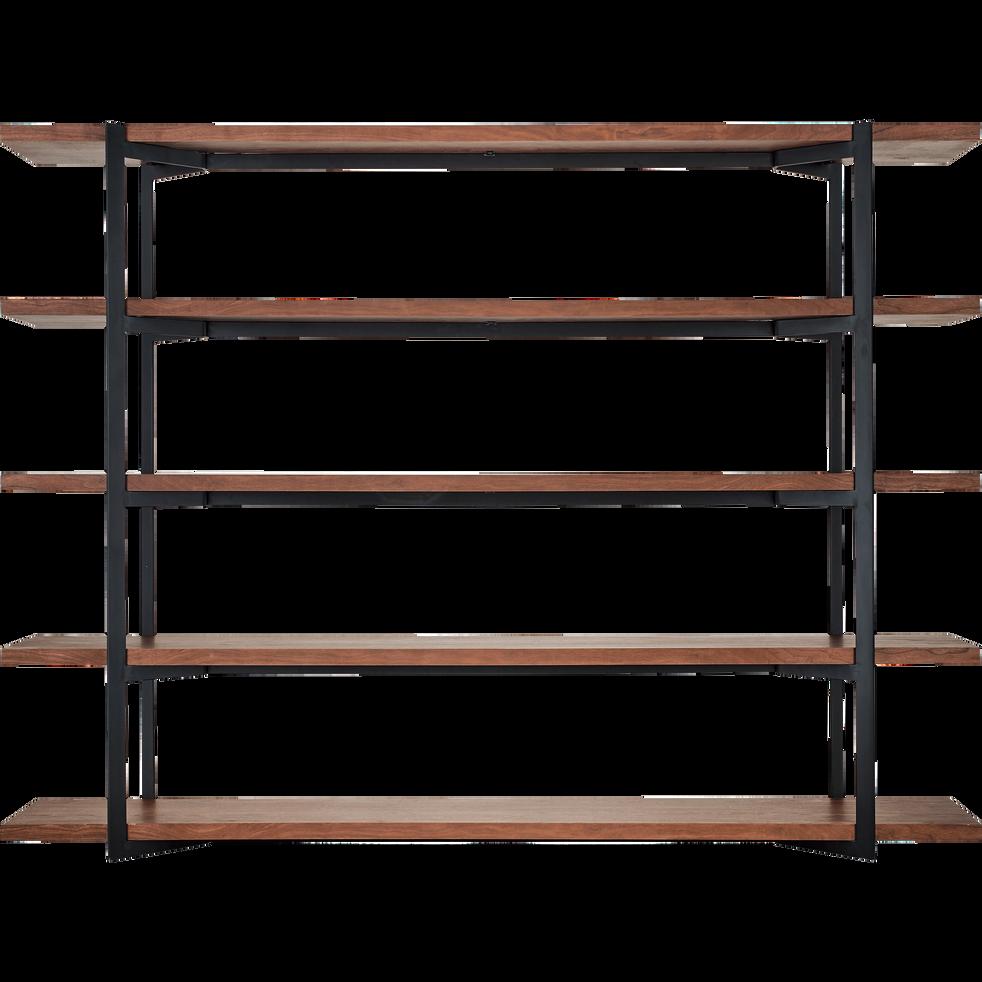 Grande étagère en métal et placage noyer H180cm-NIVO