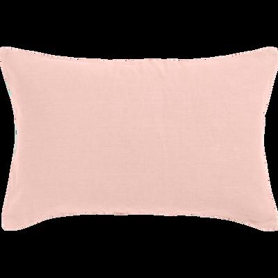 Coussin en lin lavé rose argile 40x60cm-VENCE