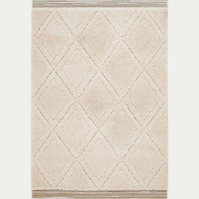 Tapis à poils longs style berbère - blanc 160x230cm-OURAIN