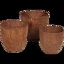 Pot à réserve d'eau rouille D33H29cm-BOLA