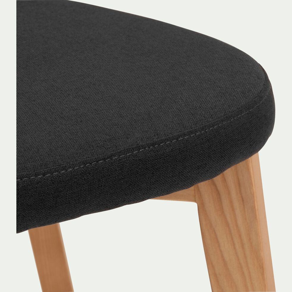Chaise en tissu - noir-AMEDEE