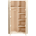 Armoire 2 portes battantes en pin massif-Woody wood