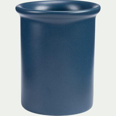 Vase en céramique bleu D8xH10cm-BRINA