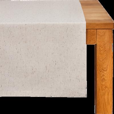 Chemin de table en coton beige 50x150cm-AMALFI