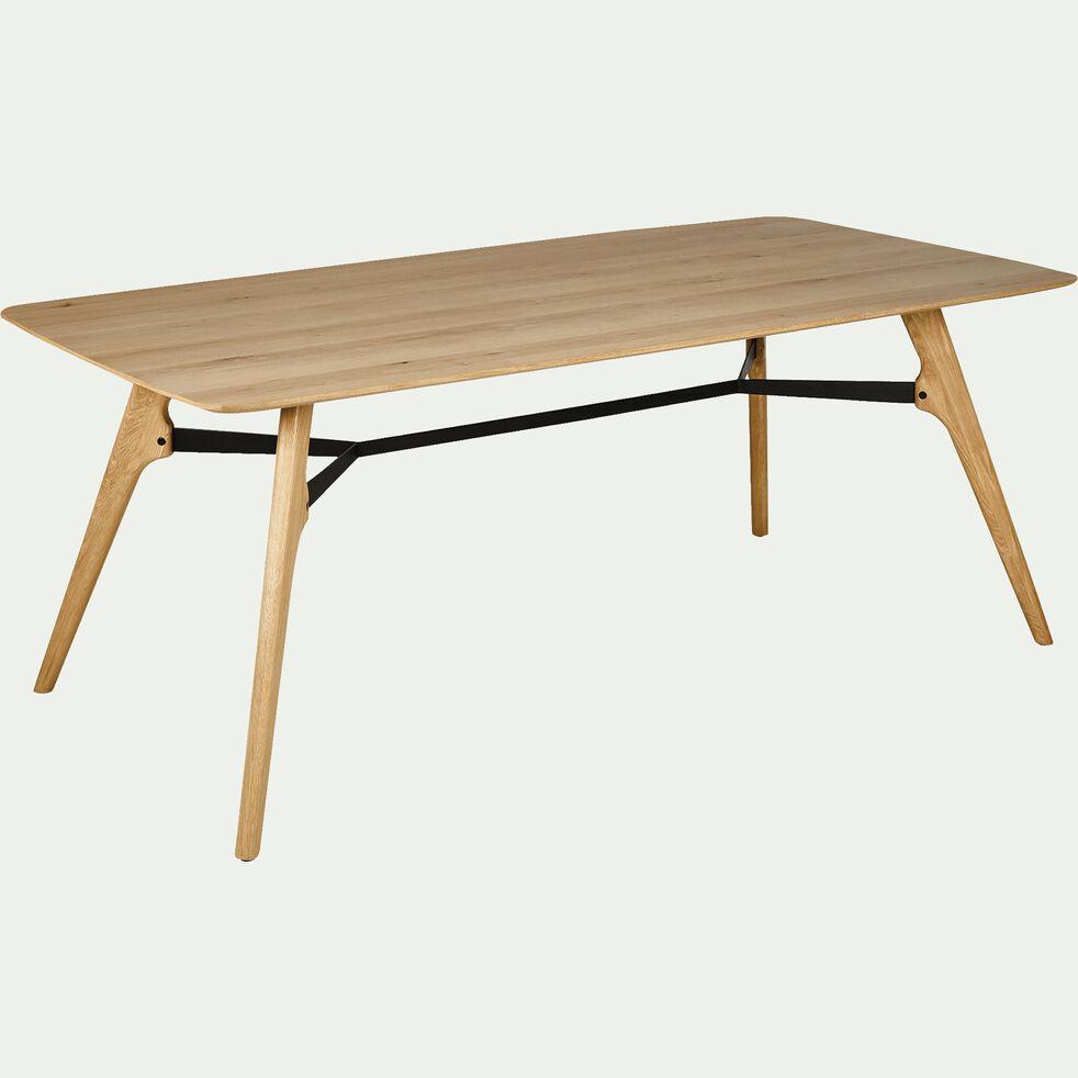 Table de repas rectangulaire bois et acier - 6 places-FANETTE