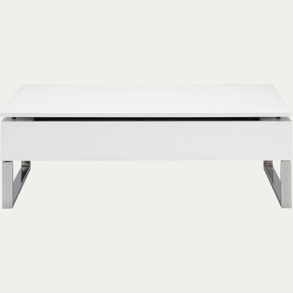 Table basse blanche avec tablette relevable-Novy