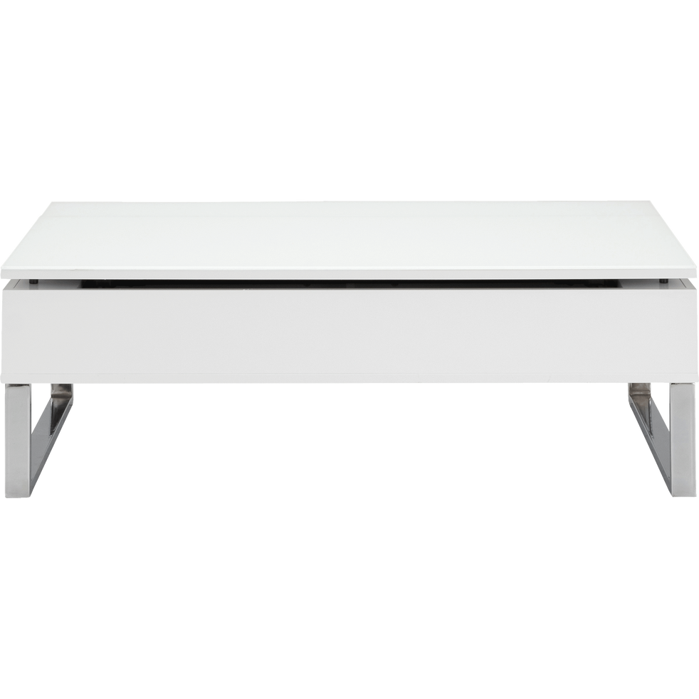 Novy Table Basse Blanche Avec Tablette Relevable