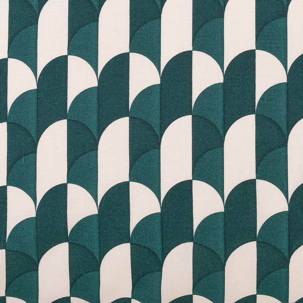 Housse de couette et 2 taies d'oreiller en coton - vert 260x240cm-ARKA