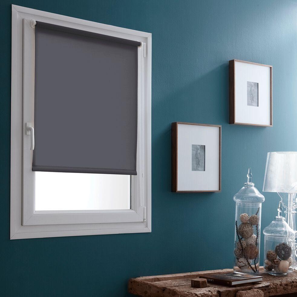 Store enrouleur voile - gris 62x170cm-EASY VOILE
