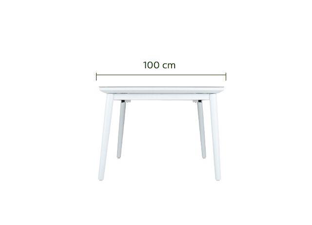 Table de jardin extensible en aluminium et verre (6 à 10 places)-BONIFACIO