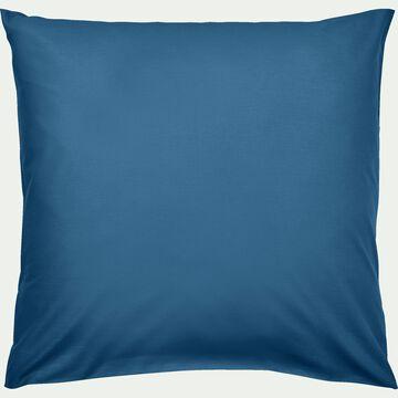 Taie d'oreiller en coton - bleu figuerolles 65x65 cm-CALANQUES