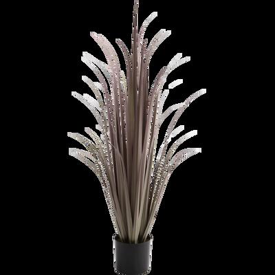 Plante artificielle rose H90cm-GRAMINEE