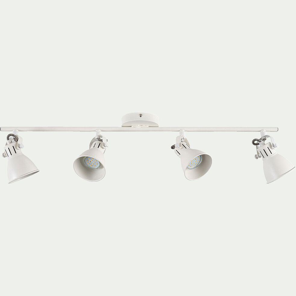 Barre 4 spots LED L77xH6,50cm - blanc-SERAS2