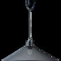 Suspension électrifiée en métal noir D50cm-SANDRA