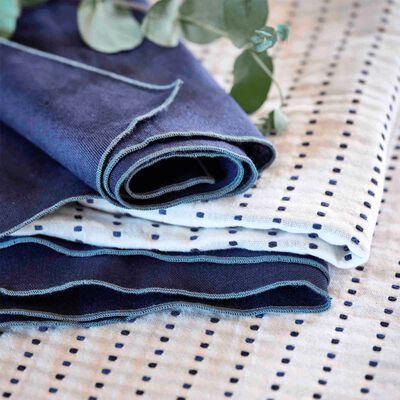 Gamme de linge de table en coton bleu myrte-LEA