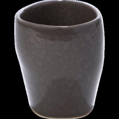 Gobelet gris brillant en céramique-JARRO