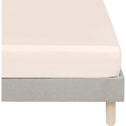 Drap housse en satin Rose grège rayé - 160x200 cm-SANTIS
