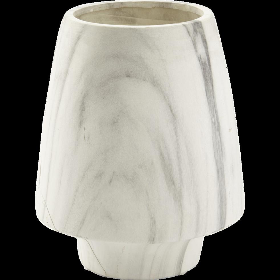 Vase en grès effet marbre h20cm-MARBLE