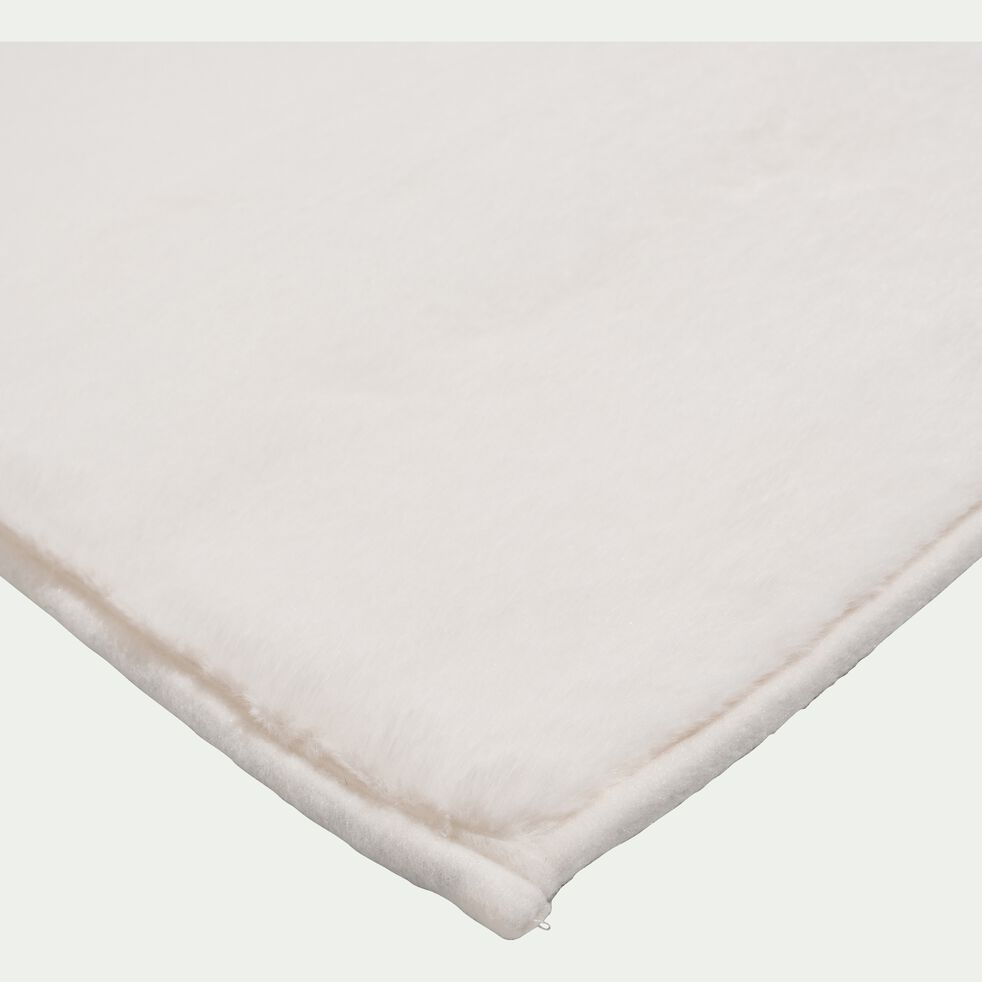 Tapis imitation fourrure - blanc ventoux 60x110cm-ROBIN