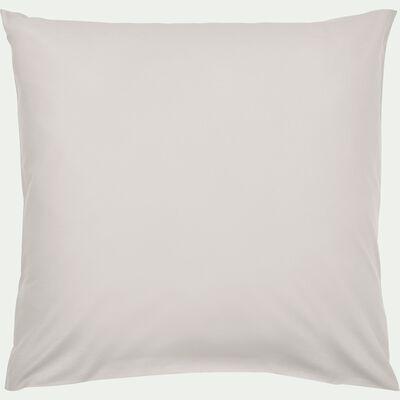 Taie d'oreiller en coton lavé beige roucas 65x65 cm-CALANQUES