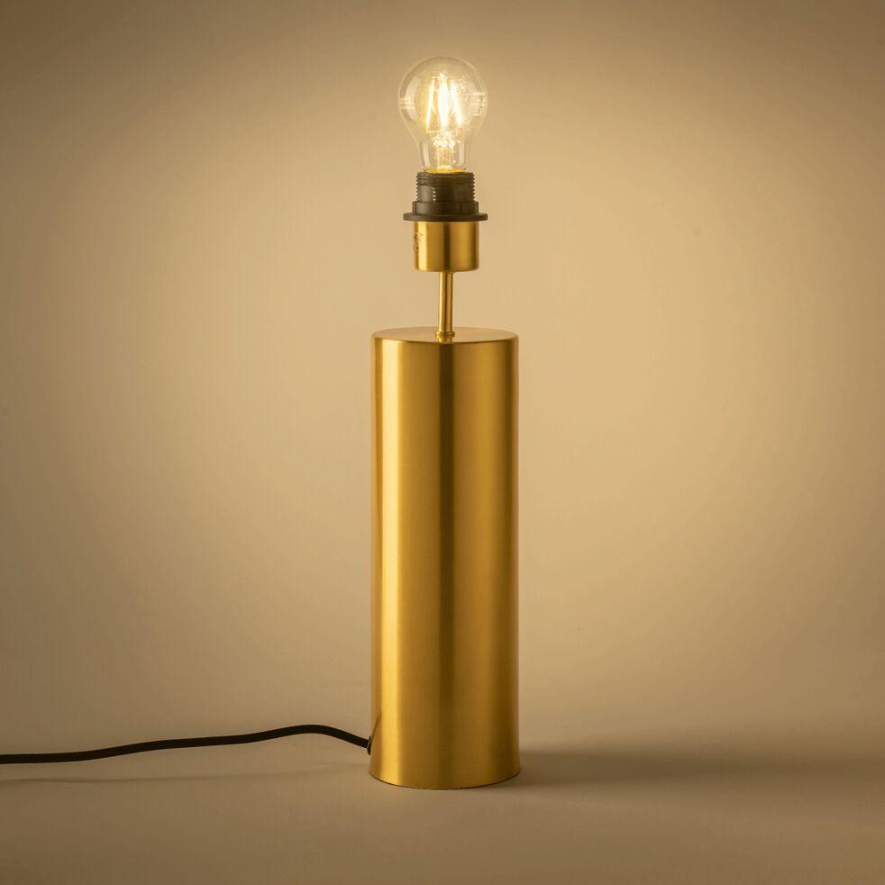 Pied de lampe en acier - doré D10xH41cm-AGATHA