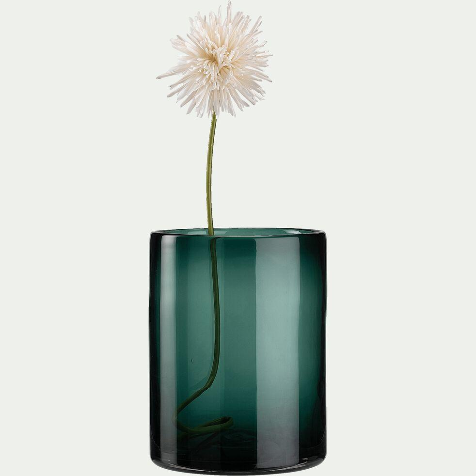 Vase taillé en verre - vert H24cm-VINKO