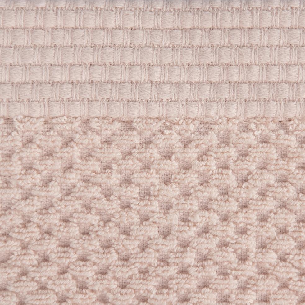 Drap de douche en coton 70x140cm rose-PIANO