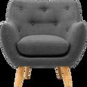 Fauteuil en tissu gris-Poppy