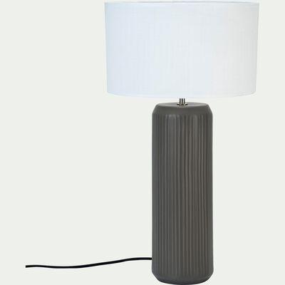Pied de lampe en céramique vert cèdre H46cm-STRI