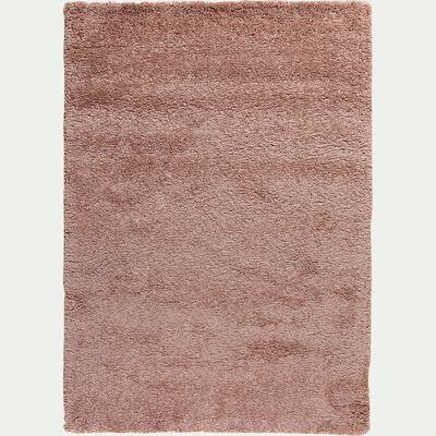 Tapis à poils longs rose 120x170cm-Kris
