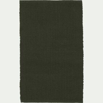 Descente de lit en coton - vert cèdre 50x80cm-CAMELIA