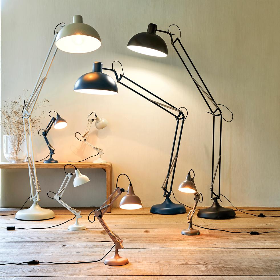 lampe en métal bleu figuerolles h55x14cm-XXL