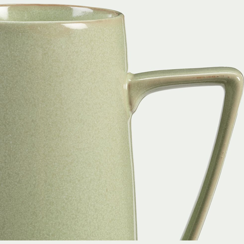 Pichet en grès - vert - 1,6L-ESQUIROU