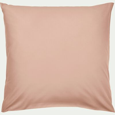 Taie d'oreiller en coton lavé sable rose 65x65 cm-CALANQUES