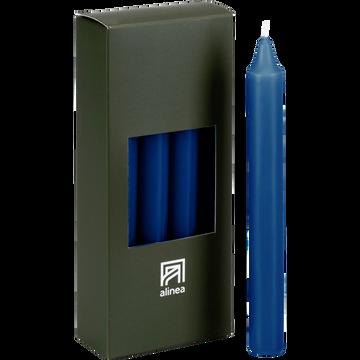 8 bougies flambeaux bleu myrte H18cm-HALBA