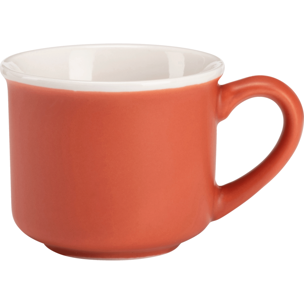 Tasse en porcelaine rouge 9cl-CAFI