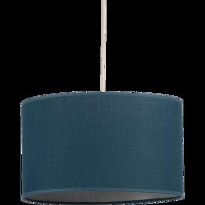 Suspension non-électrifiée tissu bleu D60cm-MISTRAL