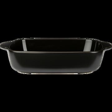 Plat à four rectangulaire en grès noir L27cm-MIOU